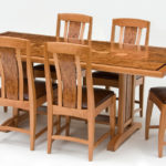 Cherry and Carpathian Elm Dining Set