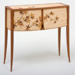 Japanese Maple Leaf Marquetry Cabinet