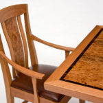 Cherry and Carpathian Elm Burl Dining Table Detail 1