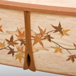 Maple Leaf Marquetry Cabinet Detail 2