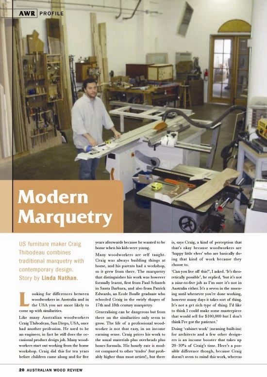 Fine Woodworking Magazine Australia