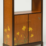 Canada Lily Marquetry Cabinet
