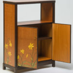 Canada Lily Marquetry Cabinet Open