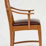 Cherry Arm Chair Side View
