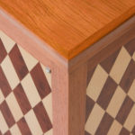 Diamond Parquetry Cabinet Detail