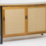 Large Bamboo and Teak Sideboard