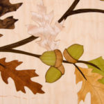 Oak Leaf and Acorn Marquetry
