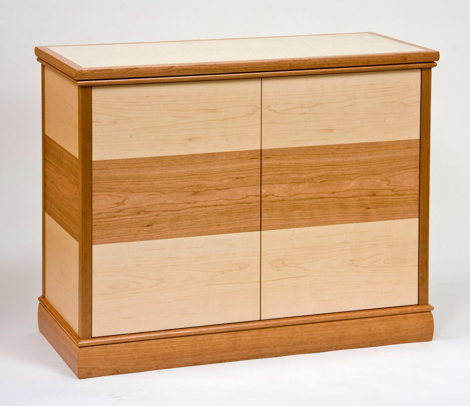 Small parquetry entertainment cabinet ct fine furniture - Small cabinet with shelves ...