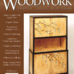 Woodwork Magazine Cover Image of my Dogwood Marquetry Cabinet