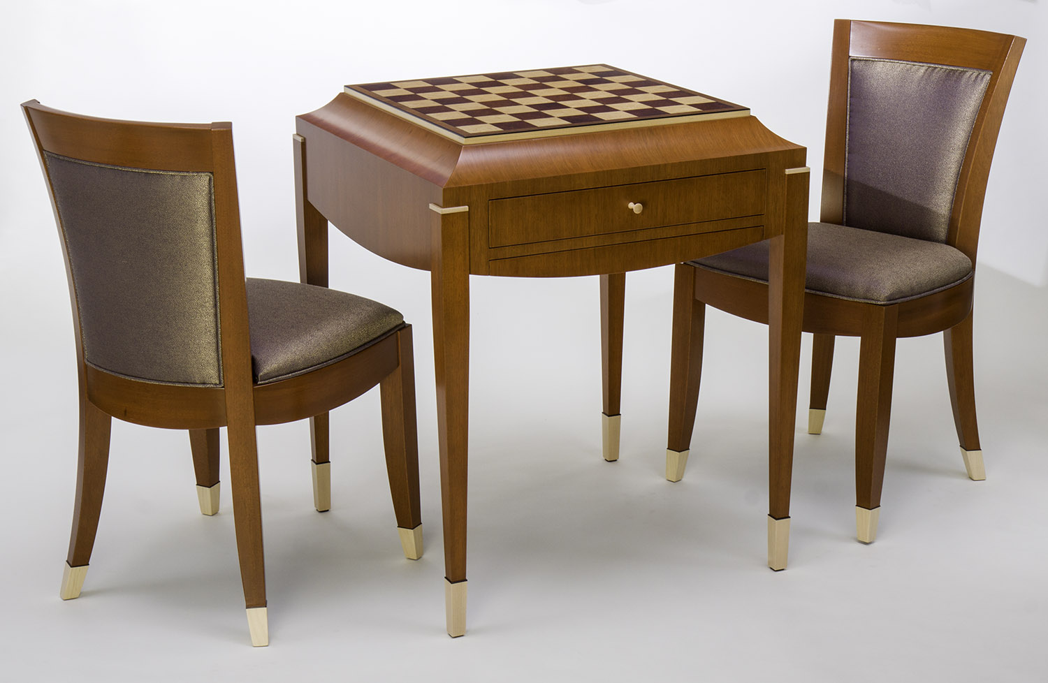 Art Deco Chess Table And Chair Set Ct Fine Furniture