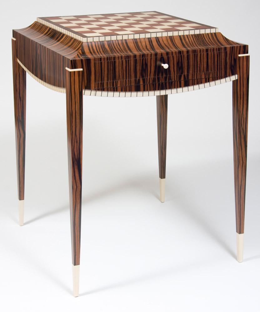 Art Deco Chess Table Ct Fine Furniture