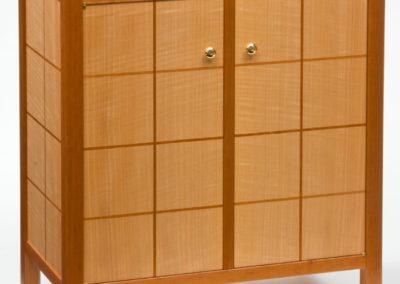 Cherry And Anigre Liquor Cabinet