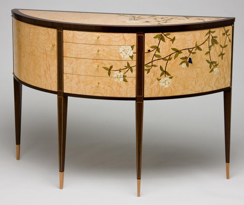 Gardenia Marquetry Sideboard2